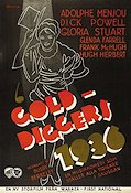 Gold Diggers 1936 1936 poster Adolphe Menjou Busby Berkeley