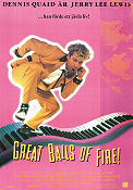 Great Balls of Fire 1989 poster Dennis Quaid