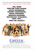 Greedy 1994 poster Michael J Fox