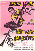 Här vare gangsters 1957 poster Jerry Lewis