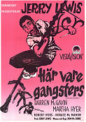 Här vare gangsters 1957 poster Jerry Lewis Don McGuire