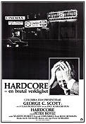 Hardcore 1979 poster George C Scott Paul Schrader