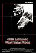 Heartbreak Ridge 1986 poster Clint Eastwood