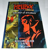 Hellboy Animated Sword of Storms DVD 2007 affisch