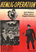 Hemlig operation 1950 poster Jack Hawkins