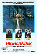 Highlander 1985 poster Christopher Lambert