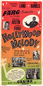 Hollywood Melody 1952 poster Frankie Laine