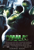 The Hulk 2003 poster Eric Bana Ang Lee