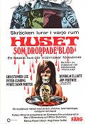 Huset som droppade blod 1971 poster Christopher Lee Peter Duffel