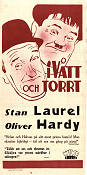 I vått och torrt 1930 poster Laurel and Hardy