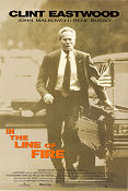In the Line of Fire 1993 poster Clint Eastwood