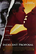 Indecent Proposal 1993 poster Robert Redford Adrian Lyne