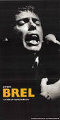 Jacques Brel 1982 poster Jacques Brel Frederic Rossif