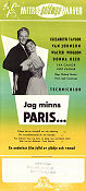Jag minns Paris 1954 poster Elizabeth Taylor Richard Brooks