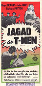 Jagad av T-Men 1949 poster Lloyd Bridges Richard Fleischer