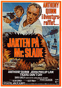 Jakten på Mr Slade 1977 poster Anthony Quinn Peter Collinson