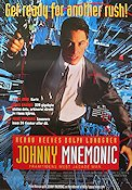 Johnny Mnemonic 1995 poster Keanu Reeves Robert Longo