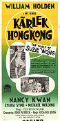 Kärlek i Hong Kong 1961 poster William Holden
