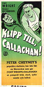 Klipp till Callaghan 1955 poster Tony Wright Willy Rozier