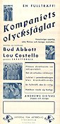 Kompaniets olycksfåglar 1949 poster Abbott and Costello