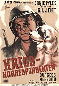 Krigskorrespondenten 1945 poster Burgess Meredith William A Wellman