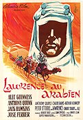 Lawrence av Arabien 1963 poster Alec Guinness David Lean