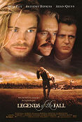 Legends of the Fall 1994 poster Brad Pitt Edward Zwick
