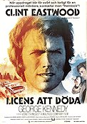 Licens att döda 1975 poster George Kennedy Clint Eastwood