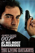 The Living Daylights 1987 poster Timothy Dalton John Glen