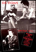 Love Kills NYC 1986 poster Sid Vicious