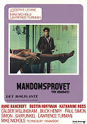 Mandomsprovet 1968 poster Dustin Hoffman Mike Nichols