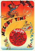 Melody Time 1951 Filmaffisch Andrews Sisters