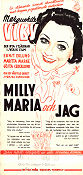 Milly Maria och jag 1938 poster Marguerite Viby Emanuel Gregers