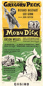 Moby Dick 1956 poster Gregory Peck John Huston