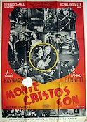 Monte Cristos son Poster 70x100cm FN piece missing original