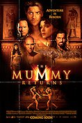 The Mummy Returns 2001 poster Brendan Fraser