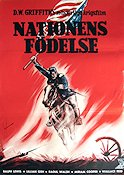 Nationens födelse 1915 Filmaffisch Lilian Gish D W Griffith