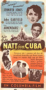 Natt över Cuba 1949 poster Jennifer Jones John Huston
