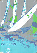Olympic Games München Sailing 1972 affisch