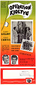 Operation kjoltyg 1959 poster Cary Grant Blake Edwards