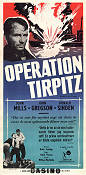 Operation Tirpitz 1955 poster John Mills