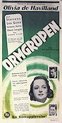 Ormgropen 1949 poster Olivia de Havilland