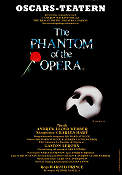 Oscarsteatern The Phantom of the Opera 1986 affisch