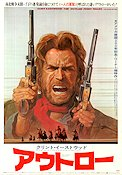 Outlaw Josey Wales 1976 Filmaffisch Clint Eastwood