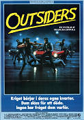 The Outsiders 1983 poster Tom Cruise Francis Ford Coppola