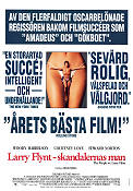 The People vs Larry Flynt 1998 poster Woody Harrelson Milos Forman