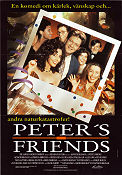 Peter's Friends 1992 poster Stephen Fry Kenneth Branagh