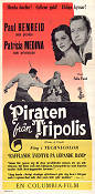 Piraten från Tripolis 1955 poster Paul Henreid Felix E Feist