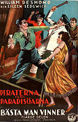 Piraterna från paradisöarna 1923 poster William Desmond William James Craft
