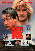 Point Break 1991 poster Patrick Swayze